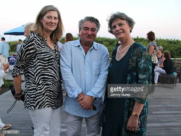 Joni Fischer Christopher Fischer and Ginnie Frati attend the Evelyn Alexander Wildlife Rescue Center Summer 2011 benefit at a Private Residence on...