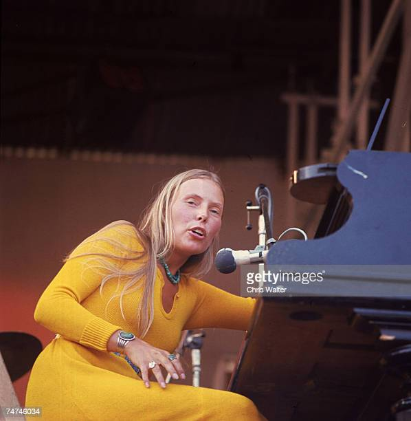 Joni Mitchell 1970 Isle Of Wight Festival during Music File Photos - The 1970s - by Chris Walter at the Music File Photos 1970's in Isle Of Wight,...
