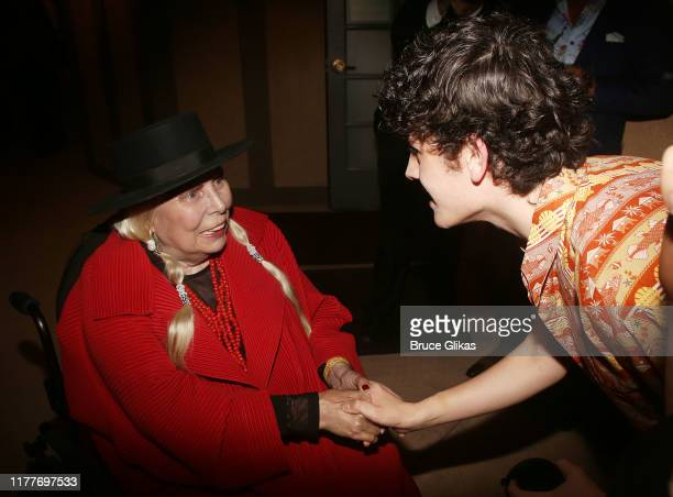 """Joni Mitchell and Casey Likes at the opening night of the new musical """"Almost Famous"""" at The Old Globe Theatre on September 27, 2019 in San Diego,..."""
