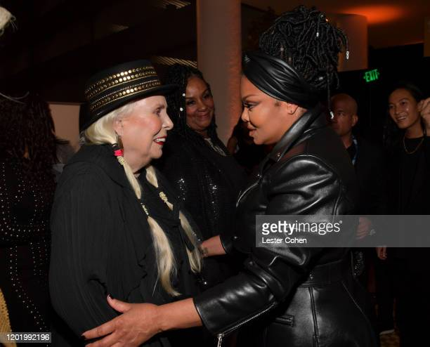 """Joni Mitchell and Janet Jackson attend the Pre-GRAMMY Gala and GRAMMY Salute to Industry Icons Honoring Sean """"Diddy"""" Combs on January 25, 2020 in..."""