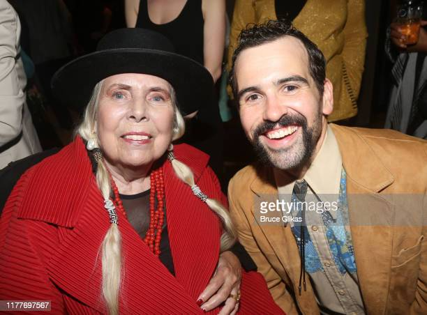"""Joni Mitchell and Matt Bittner pose at the opening night of the new musical """"Almost Famous"""" at The Old Globe Theatre on September 27, 2019 in San..."""