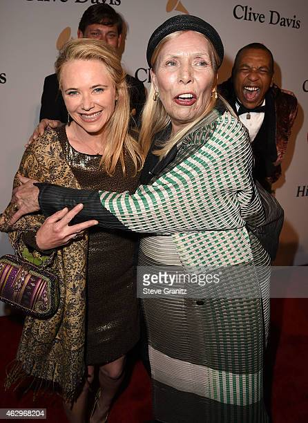 Joni Mitchell arrives at the PreGRAMMY Gala And Salute To Industry Icons Honoring Martin Bandier on February 7 2015 in Los Angeles California