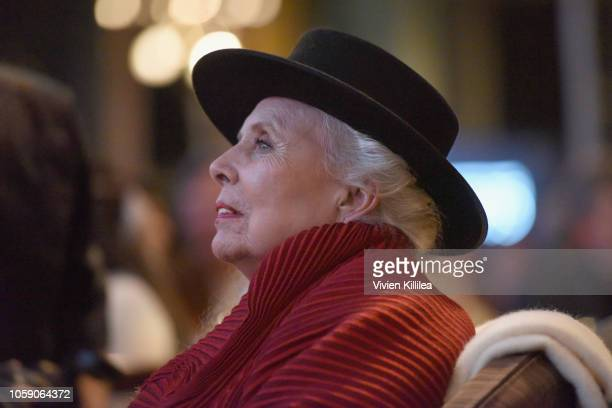 Joni Mitchell attends Joni 75 A Birthday Celebration Live At The Dorothy Chandler Pavilion on November 7 2018 in Los Angeles California