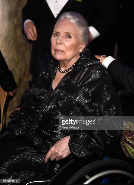 Joni Mitchell attends PreGRAMMY Gala and Salute to Industry Icons Honoring Debra Lee at The Beverly Hilton on February 11 2017 in Los Angeles...