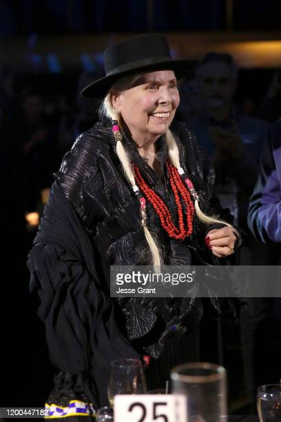 Joni Mitchell attends The 2020 NAMM Show – 35th Annual NAMM TEC Awards on January 18, 2020 in Anaheim, California.