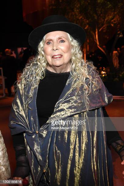 Joni Mitchell attends the 2020 Vanity Fair Oscar Party hosted by Radhika Jones at Wallis Annenberg Center for the Performing Arts on February 09,...