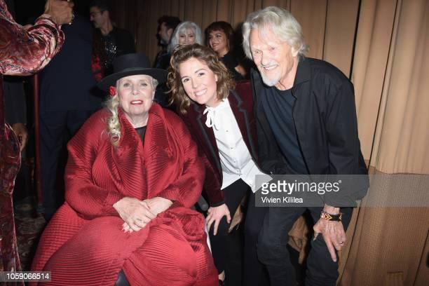 Joni Mitchell Brandi Carlile and Kris Kristofferson attend Joni 75 A Birthday Celebration Live At The Dorothy Chandler Pavilion on November 7 2018 in...