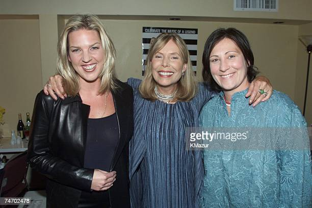 Joni Mitchell Diana Krall and kd Lang during TNT's All Star Tribute To Joni Mitchell in New York New York