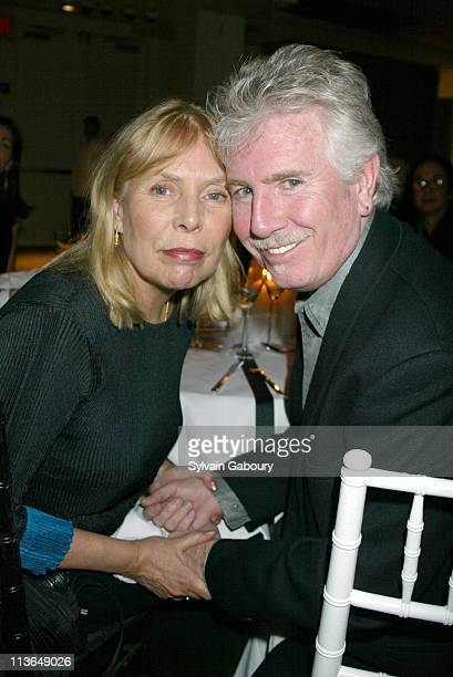 Joni Mitchell Graham Nash during Joni Mitchell Presents Graham Nash With Aperture/Alfred Stieglitz Award for Creative Amateur Photography at...