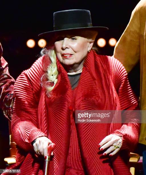 Joni Mitchell onstage at JONI 75 A Birthday Celebration Live at Dorothy Chandler Pavilion on November 07 2018 in Los Angeles California