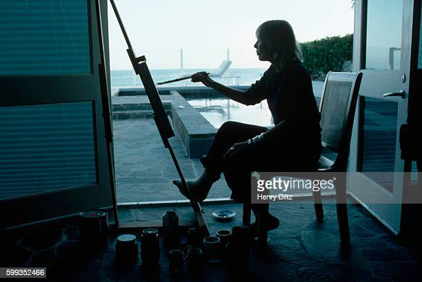 Joni Mitchell paints in a waterfront studio She painted most of her record covers and considers her painting equal to her music Mitchell remains one...