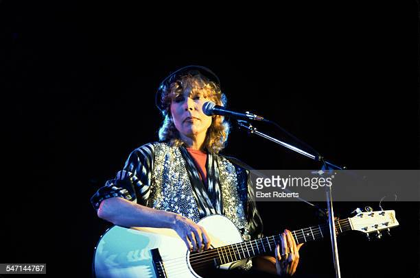 Joni Mitchell performing at Farm Aid in Champaigne Illinois on September 22 1985