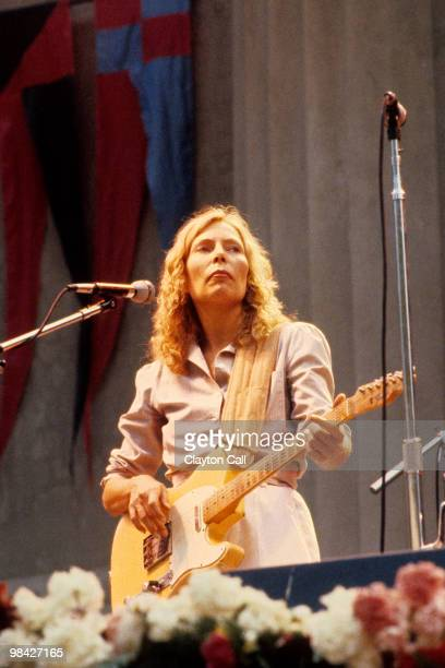 Joni Mitchell performing at the Bread Roses Festival at the Greek Theater in Berkeley California on October 4th 1980