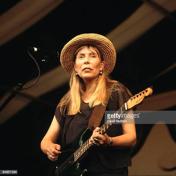 Joni Mitchell performing at the New Orleans Jazz and Heritage Festival 6th May 1995