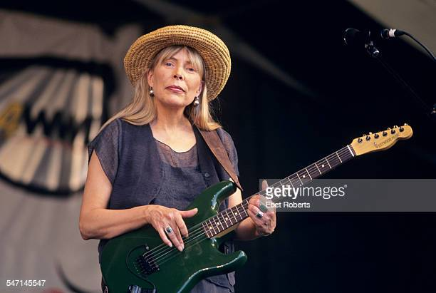 Joni Mitchell performing at the New Orleans Jazz and Heritage Festival in New Orleans, Lousiana on May 6, 1995.