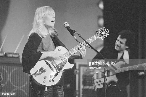 Joni Mitchell Performing in Concert