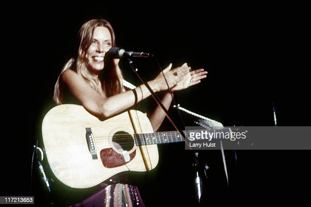 Joni Mitchell performs at the Community Center in Berkeley California on March 1 1974