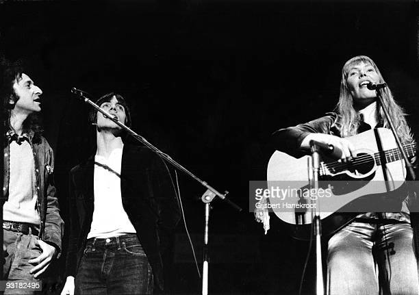 Joni Mitchell performs live in Amsterdam Holland in 1972 with Elliot Roberts and Jackson Browne on backing vocals