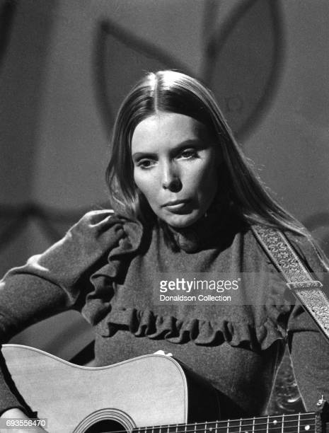 Joni Mitchell performs as a part of Ace Trucking Company on This Is Tom Jones TV show in circa 1970 in Los Angeles California