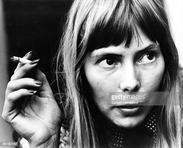 Joni Mitchell posed in Amsterdam, Holland in 1972
