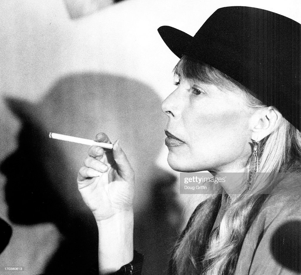 Joni Mitchell, Canadian Musician, Singer Songwriter, And Painter : News Photo