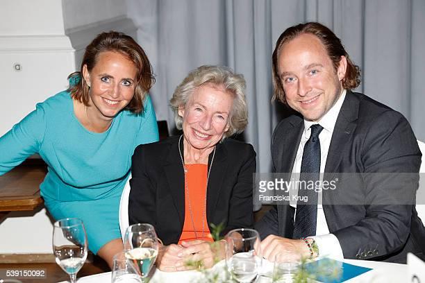 Jonica Jahr Angelika Jahr and Alexander Stilcken attend the 'Das Herz im Zentrum' Charity Gala on June 9 2016 in Hamburg Germany
