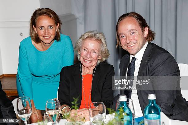 Jonica Jahr Angelika Jahr and Alexander Stilcken attend the 'Das Herz im Zentrum' Charity Gala on June 9 2016 in Hamburg Germany