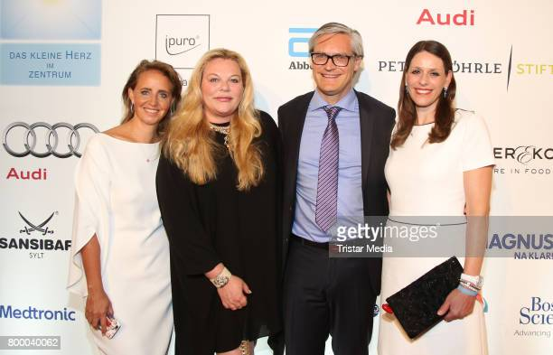 Jonica Jahr, Katharina Otto-Bersnstein, Alexander Otto and his wife Dorit Otto attend the Charity Evening 'Das kleine Herz im Zentrum' at Curio Haus...