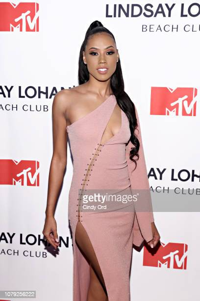 Jonitta Wallace attends MTV's 'Lindsay Lohan's Beach Club' Premiere Party at Moxy Times Square on January 7 2019 in New York City