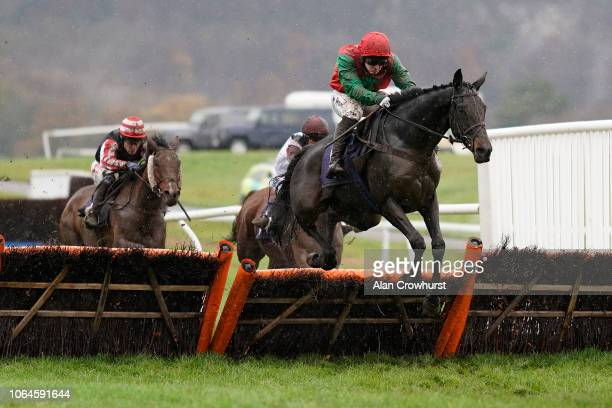 Jonjo O'Neill Jr riding Django Django clear the last to win The Siteserv Recycling Ltd Supporting Velindre Handicap Hurdle at Chepstow Racecourse on...