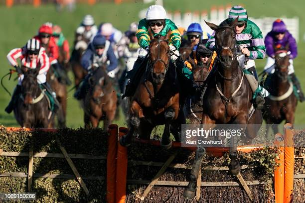 Jonjo O'Neill jr riding Palmers Hill clear the last to win The Steve And Sue Ibberson Happy Retirement Conditional Jockeys' Handicap Hurdleat...