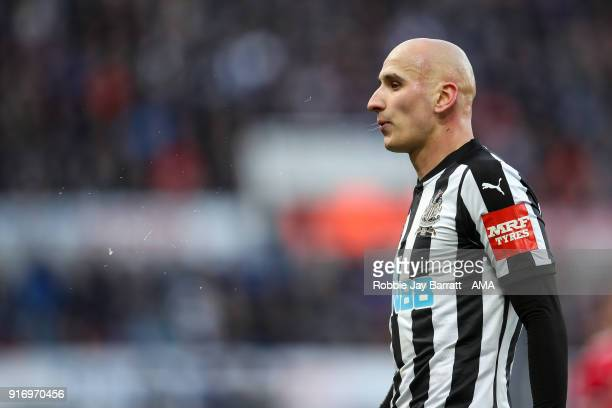 Jonjo Shelvey of Newcastle United during the Premier League match between Newcastle United and Manchester United at St James Park on February 11 2018...
