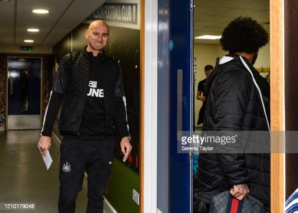 Jonjo Shelvey of Newcastle United FC arrives for the FA Cup Fifth Round match between West Bromwich Albion and Newcastle United at The Hawthorns on...