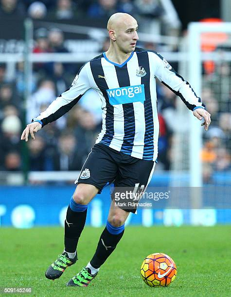 Jonjo Shelvey of Newcastle United in action during the Barclays Premier League match between Newcastle United FC and West Bromwich Albion FC at St...
