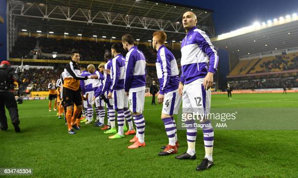 Jonjo Shelvey of Newcastle United looks on during the Sky Bet Championship match between Wolverhampton Wanderers and Newcastle United at Molineux on...