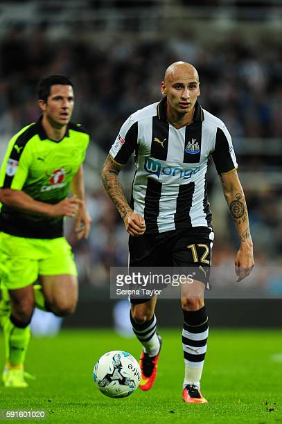 Jonjo Shelvey of Newcastle United looks to pass the ball during the Sky Bet Championship match between Newcastle United and Reading at StJames' Park...