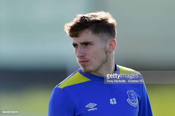 Jonjoe Kenny during the Everton FC training session at USM Finch Farm on February 24 2017 in Halewood England
