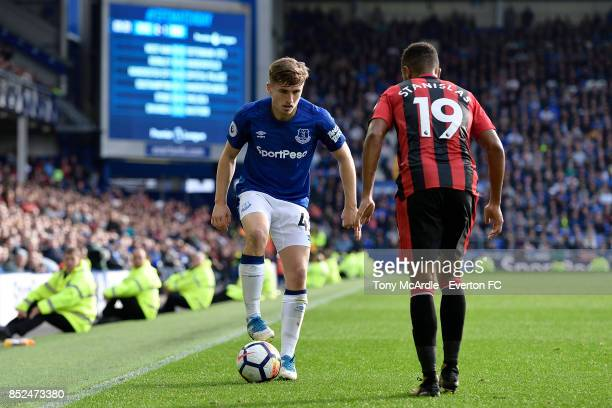 Jonjoe Kenny during the Premier League match between Everton and AFC Bournemouth at Goodison Park on September 23 2017 in Liverpool England