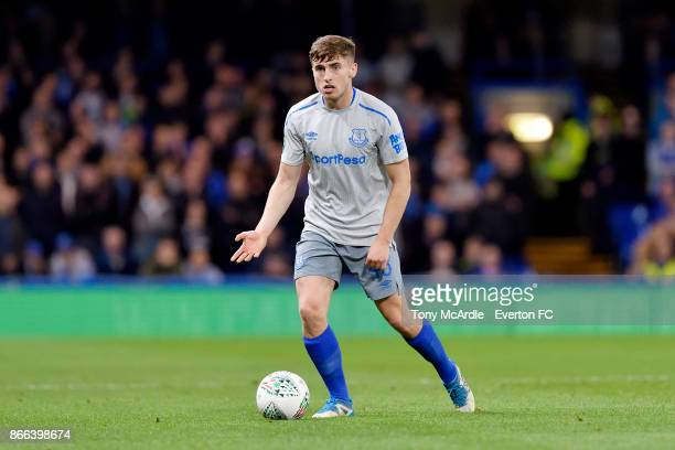 Jonjoe Kenny of Everton during the Carabao Cup Fourth Round match between Chelsea and Everton at Stamford Bridge on October 25 2017 in London England
