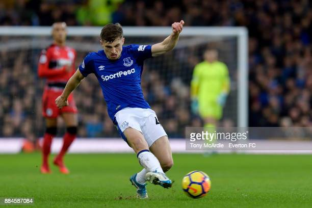Jonjoe Kenny of Everton during the Premier League match between Everton and Huddersfield Town at Goodison Park on December 2 2017 in Liverpool England