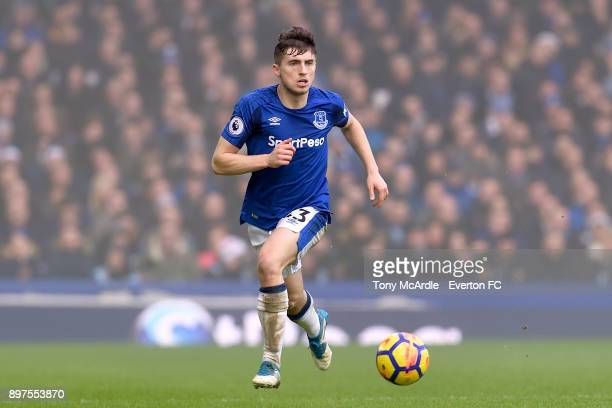 Jonjoe Kenny of Everton during the Premier League match between Everton and Chelsea at Goodison Park on December 23 2017 in Liverpool England