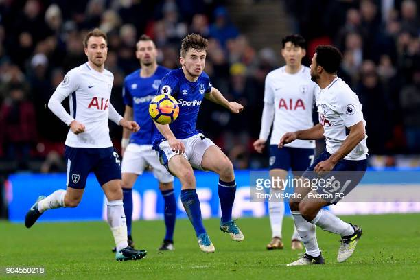 Jonjoe Kenny of Everton during the Premier League match between Tottenham Hotspur and Everton at Wembley Stadium on January 13 2018 in London England