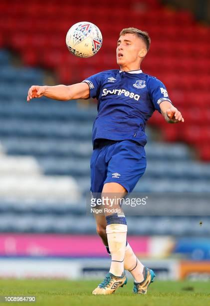 Jonjoe Kenny of Everton during the PreSeason Friendly match between Blackburn Rovers and Everton at Ewood Park on July 26 2018 in Blackburn England