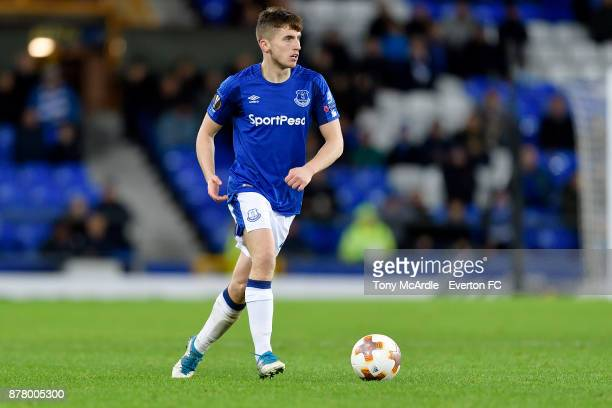 Jonjoe Kenny of Everton during the UEFA Europa League group E match between Everton and Atalanta at Goodison Park on November 23 2017 in Liverpool...
