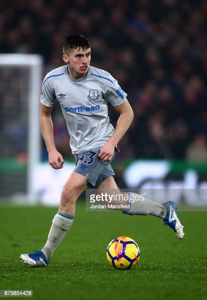 Jonjoe Kenny of Everton in action during the Premier League match between Crystal Palace and Everton at Selhurst Park on November 18 2017 in London...