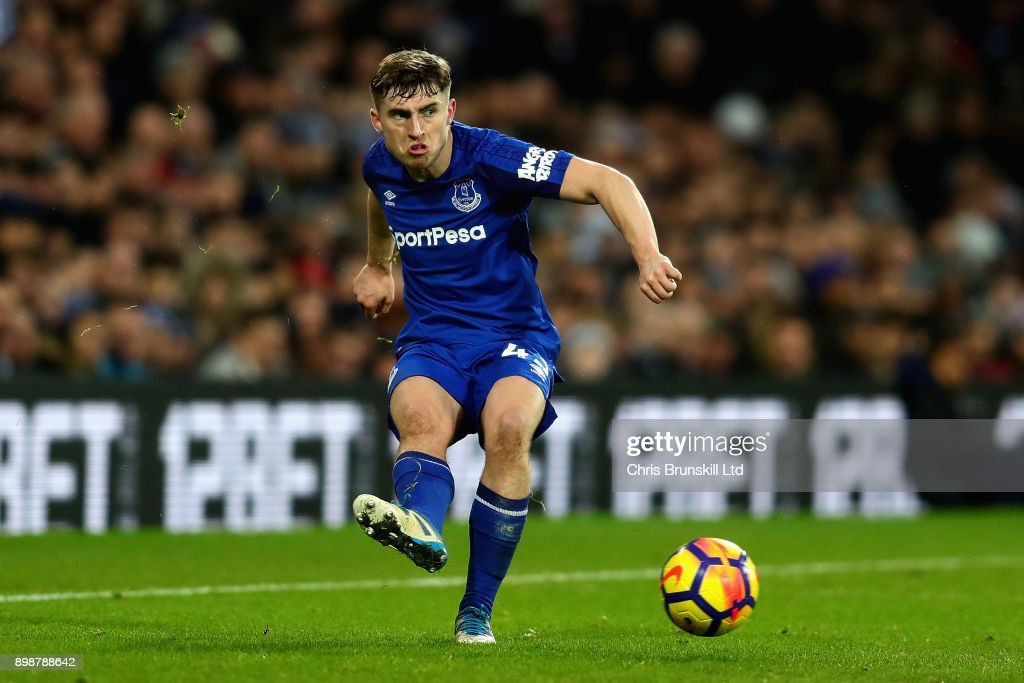 Jonjoe Kenny of Everton in action during the Premier League match between West Bromwich Albion and Everton at The Hawthorns on December 26, 2017 in West Bromwich, England.