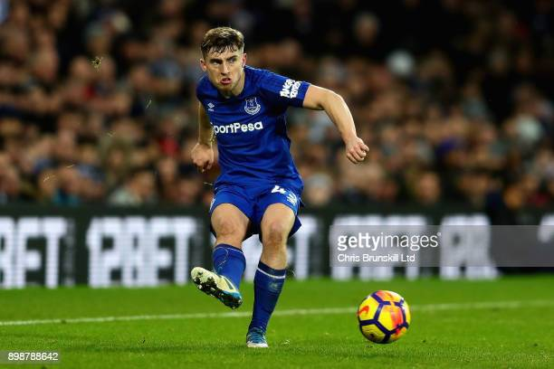 Jonjoe Kenny of Everton in action during the Premier League match between West Bromwich Albion and Everton at The Hawthorns on December 26 2017 in...