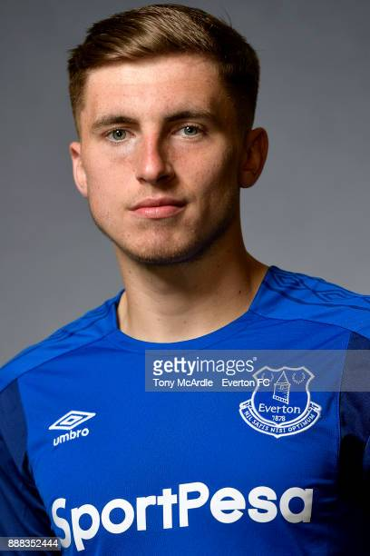 Jonjoe Kenny of Everton poses for a photo at USM Finch Farm on December 5 2017 in Halewood England