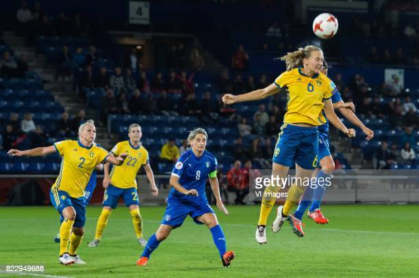 Jonna Andersson of Sweden women Martina Rosucci of Italy Women Olivia Schough of Sweden women Melania Gabbiadini of Italy Women Magdalena Ericsson of...