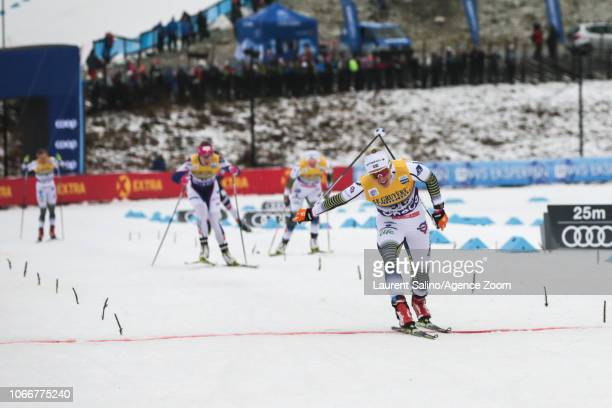 Jonna Sundling of Sweden takes 1st place during the FIS Nordic World Cup Men's and Women's Cross Country Sprint on November 30 2018 in Lillehammer...
